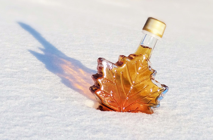 Bottle of Maple Syrup