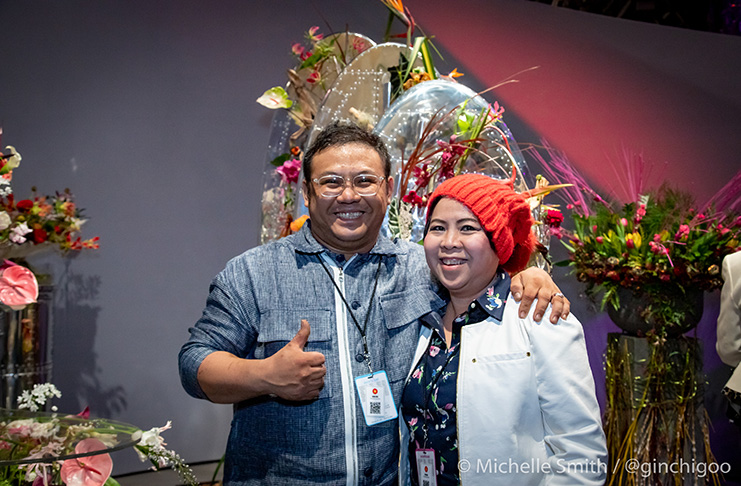 Nam Bao and colleague during the FTD Interflora World Cup