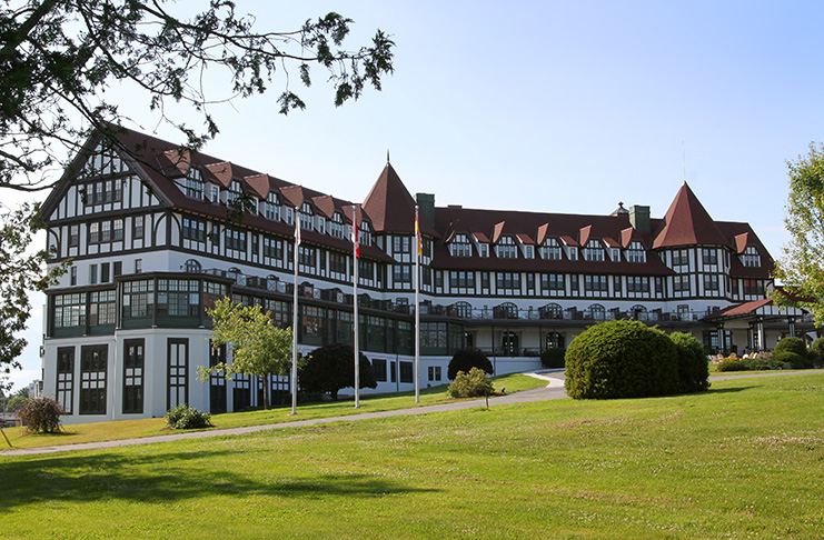 A landmark building in Saint Andrews by the Sea, The Algonquin, New Brunswick