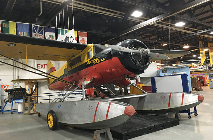 At the Canadian Bushplane Heritage Centre, visitors can get up close to vintage aircraft such as this Norseman floatplane.
