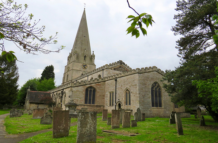 St. Mary's Church, where Robin and Maid Marion exchanged vows.