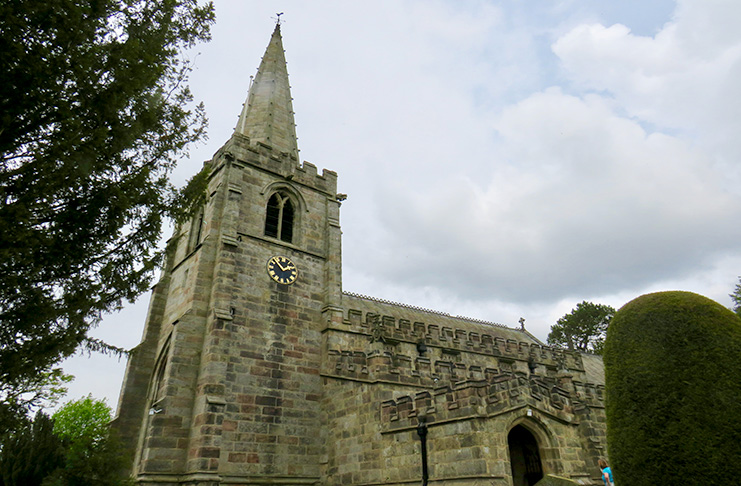 Peaceful St. Michael and All Angels' Church, where Little John is said to be buried.