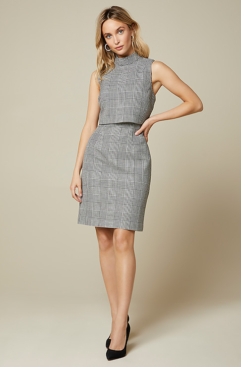 RW&CoGlen Plaid Popover Crop Sheath Dress