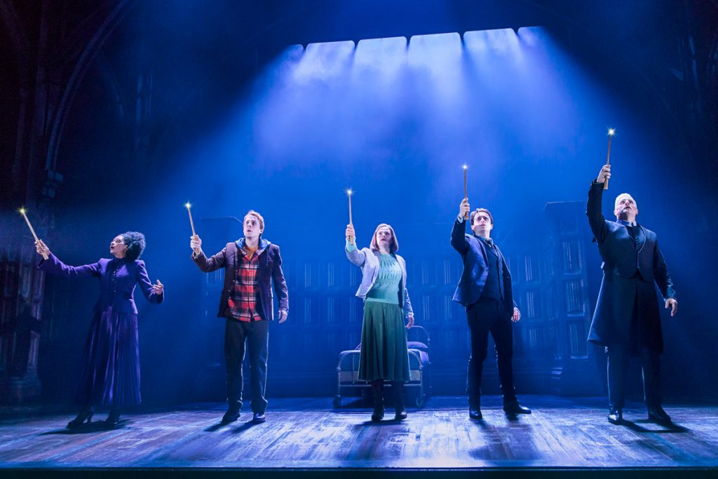 Pictured from the Broadway production (l-r): Jenny Jules, Matt Mueller, Diane Davis, James Snyder, Jonno Roberts - Photo Credit: Matthew Murphy.
