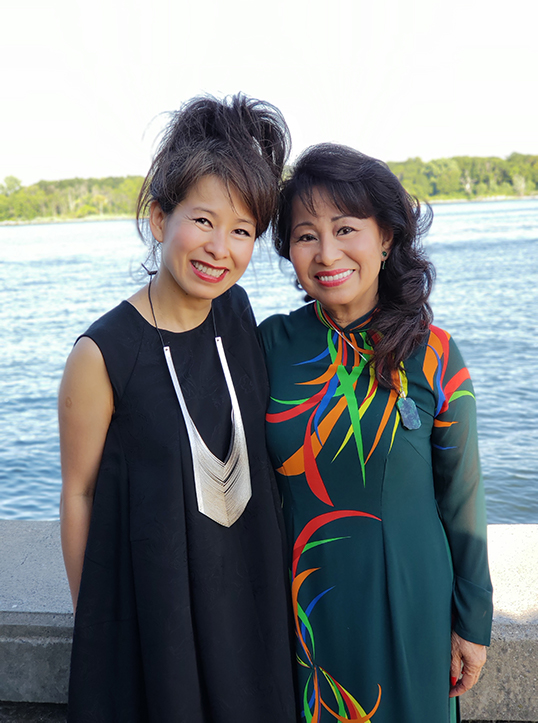 Credit: Quang Vu. Kim Thuy with her mom