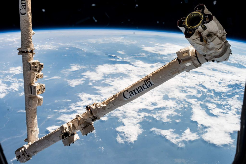 The Canadarm Robotic Arm. Photo by NASA