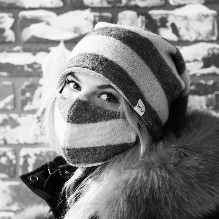 MOJi's stay warm collection and fabric cover for disposable masks. Photo: mojimask.ca