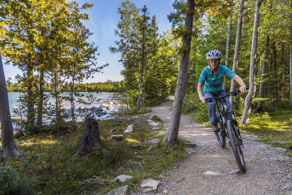 Cyclist in Bruce Peninsula National Park