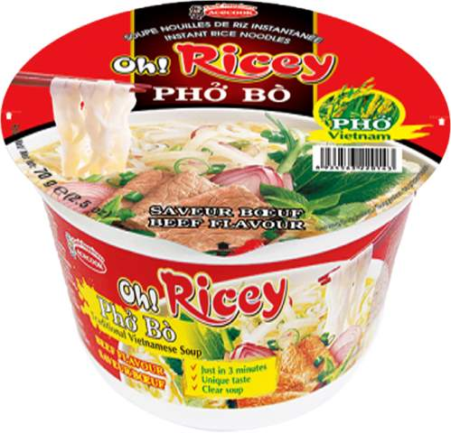 Oh Ricey Brand Instant Noodle Bowl