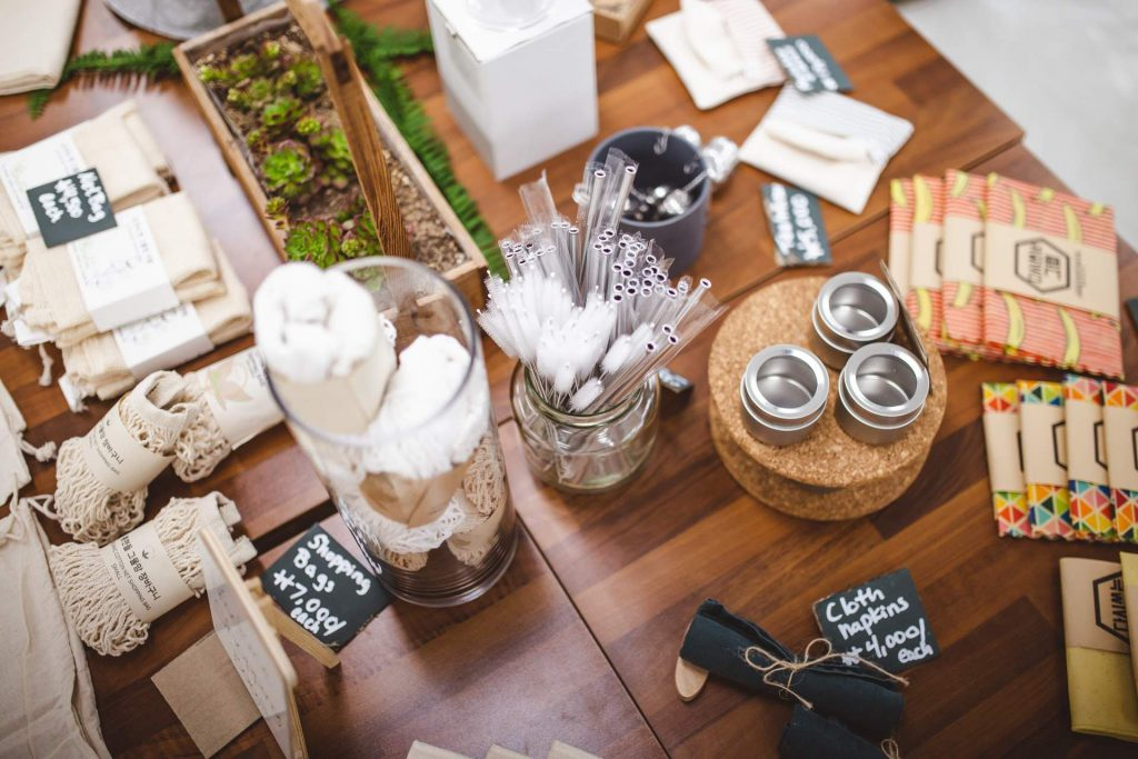 Zero waste products on sale at Unboxed Market - Toronto's First zero waste grocery store