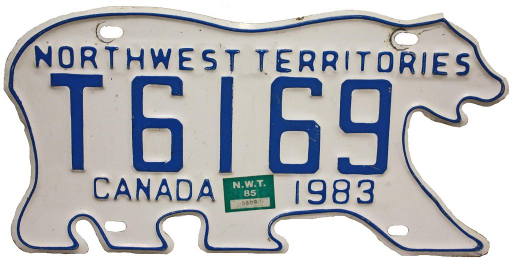 A license plate in Northwest Territories