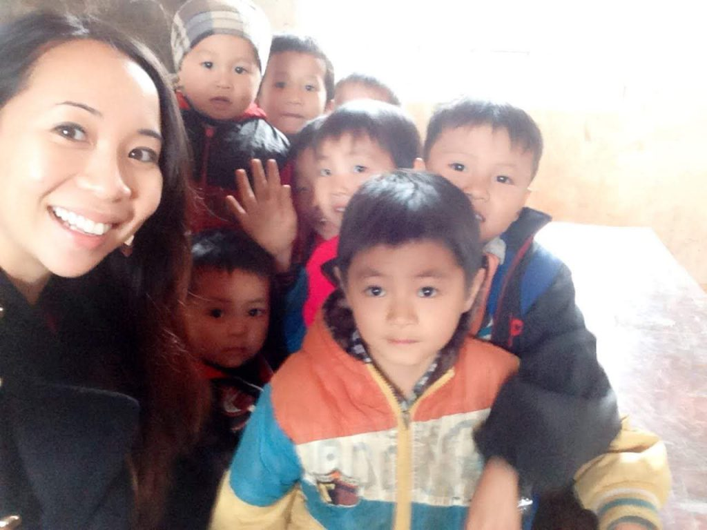 On one of her volunteer trips to support children in Vietnam. Photo courtesy of Denise Sandquist/Fika